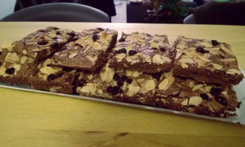 Recette des brownies au chocolat et fruits secs