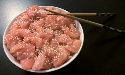 Recette de chirashi saumon