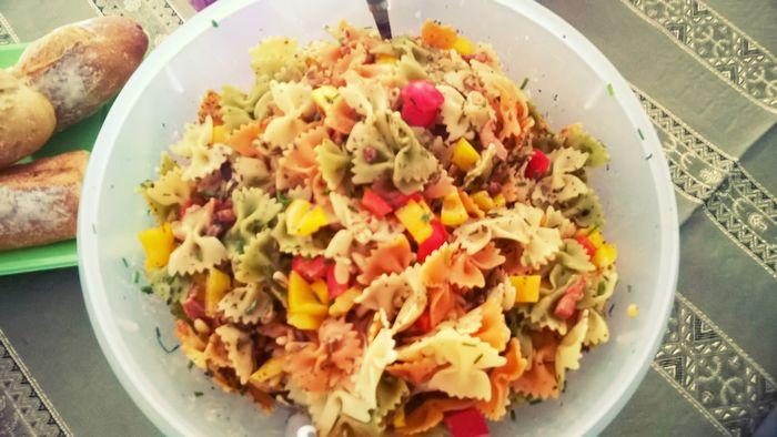 Recette de la salade de pâtes gorgée de soleil